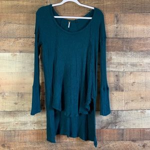 Free People Ventura Thermal Top Teal Size Small